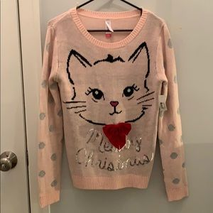 NWT Merry Christmas CAT 🐱ugly Christmas sweater